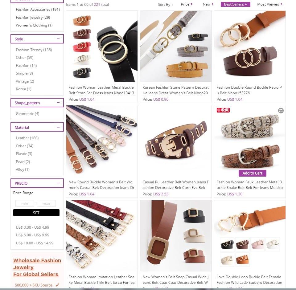 fashion women belts