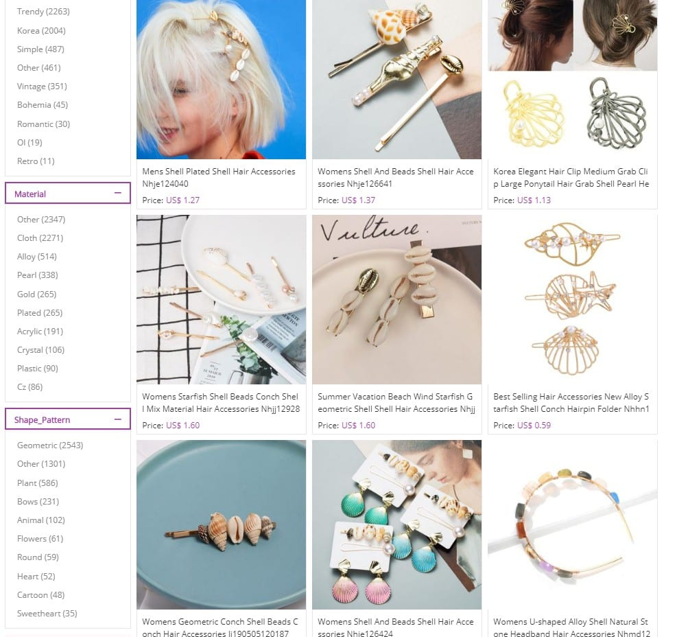 ocean elements hair accessories