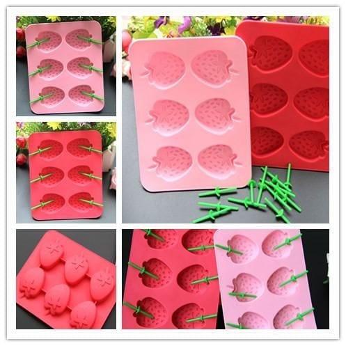 strawberry silicone ice box