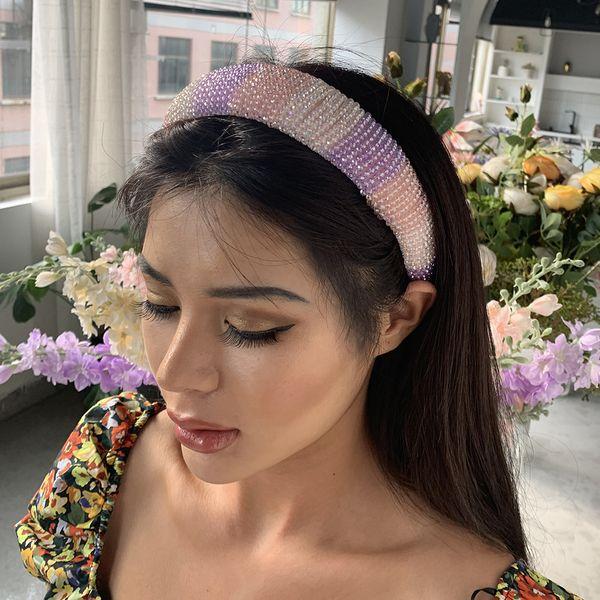 colorful hand-beaded headband