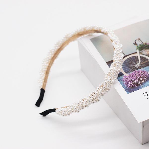 pearls hand-beaded headband