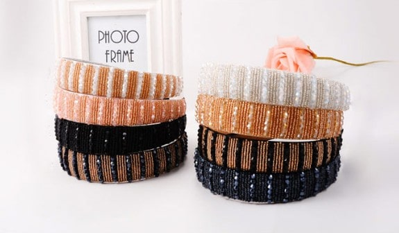 popular hand-beaded headbands