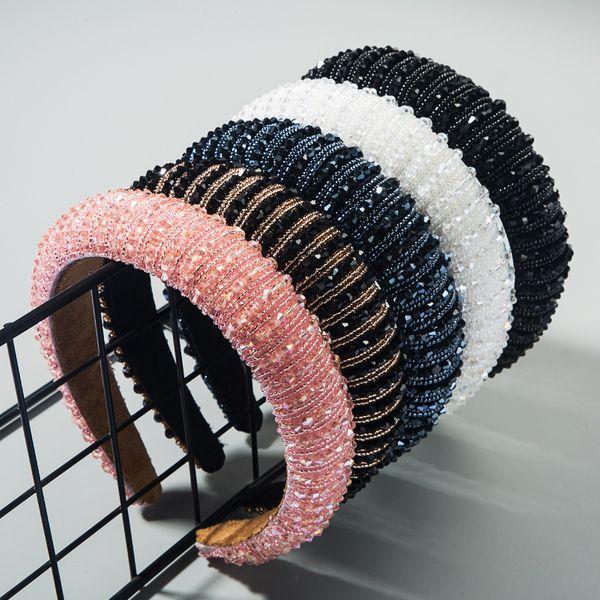 sponge hand-beaded headband