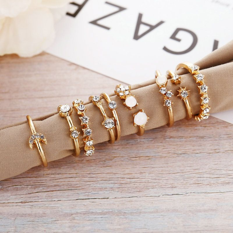 9 piece simple style ring sets