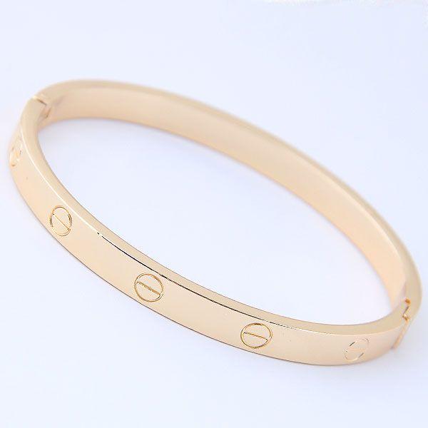 simple golden cuff bracelet