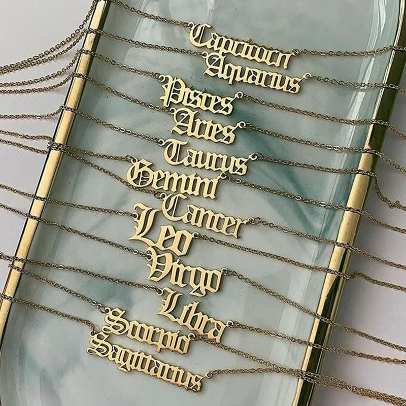 Wholesale Constellation Letter Necklace