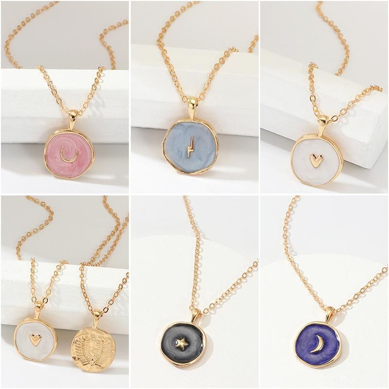 Multiple necklaces product with moon, star, heart and other element