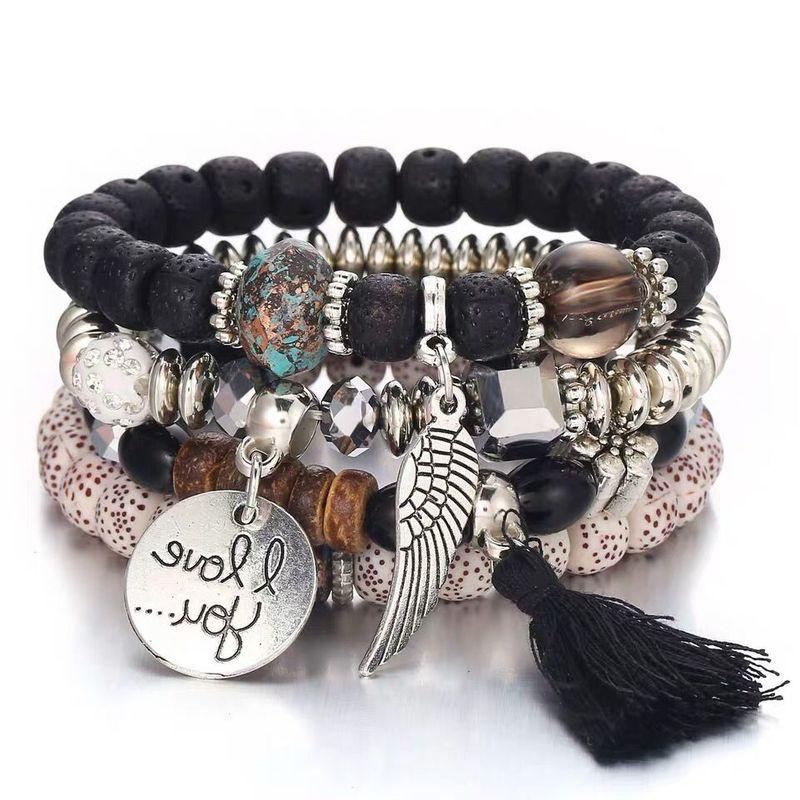 Stackable beaded bracelets for sale