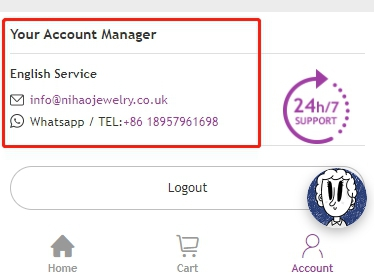 account manager for easy contact
