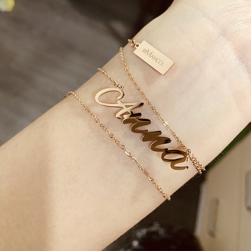 custom jewelry necklace on wrist