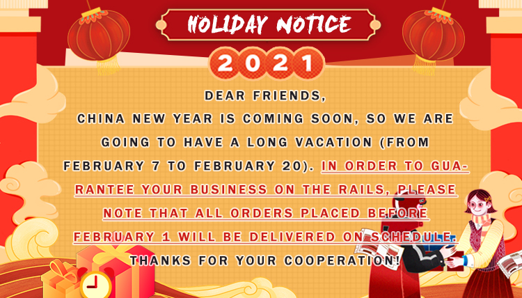 Nihaojewelry holiday notice 2021