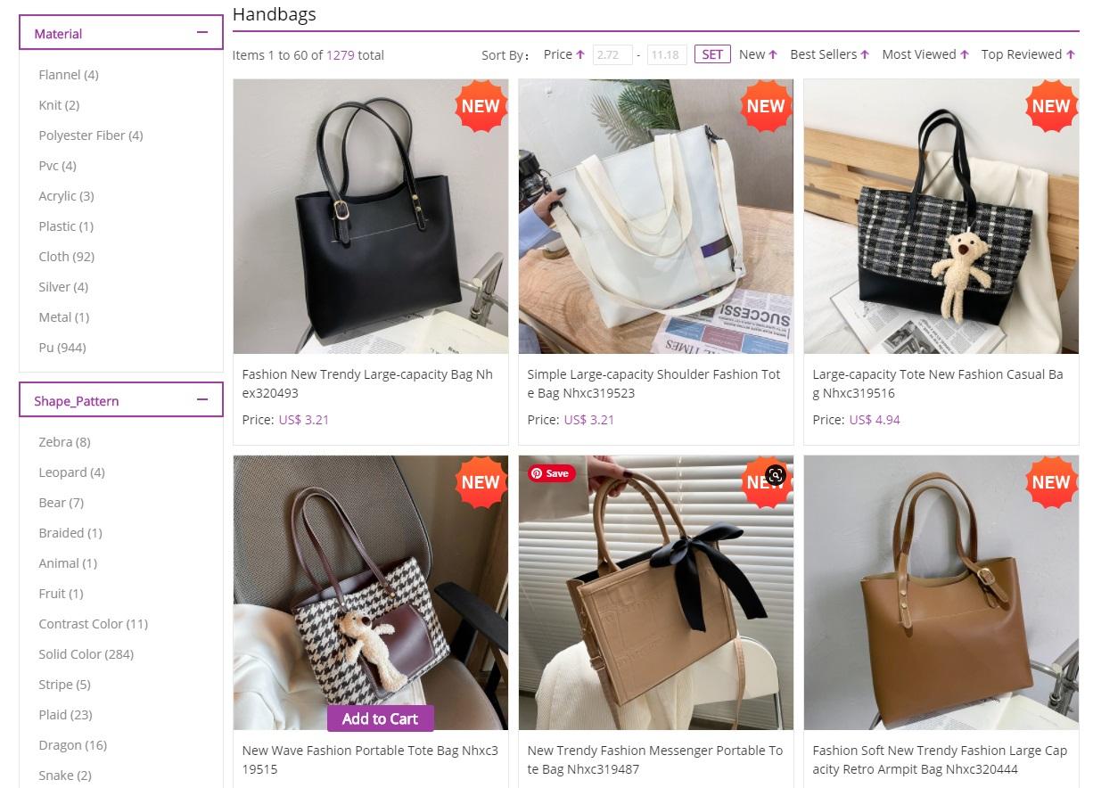 nihaojewelry handbags