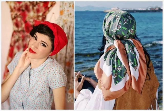 women wear hair scarves