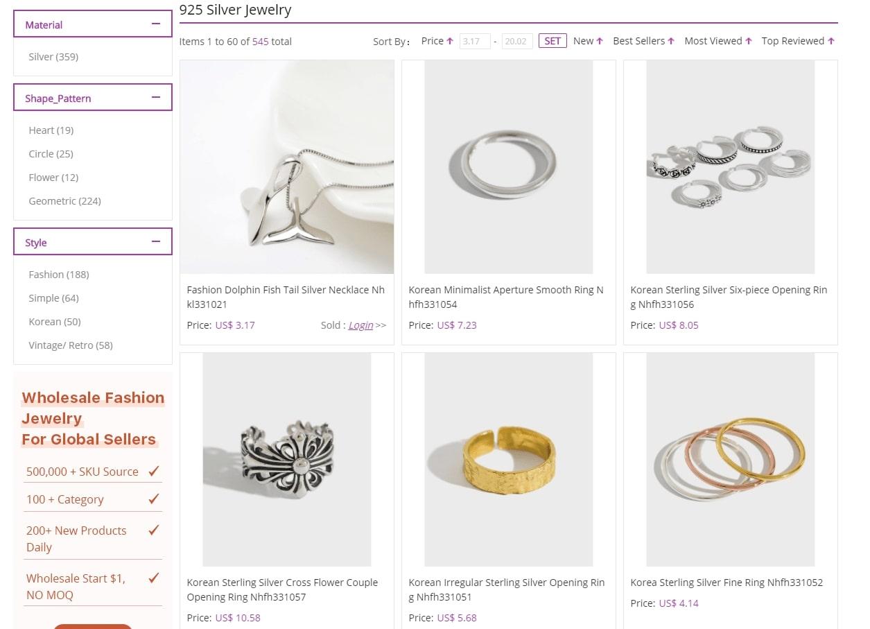 nihaojewelry silver jewelry