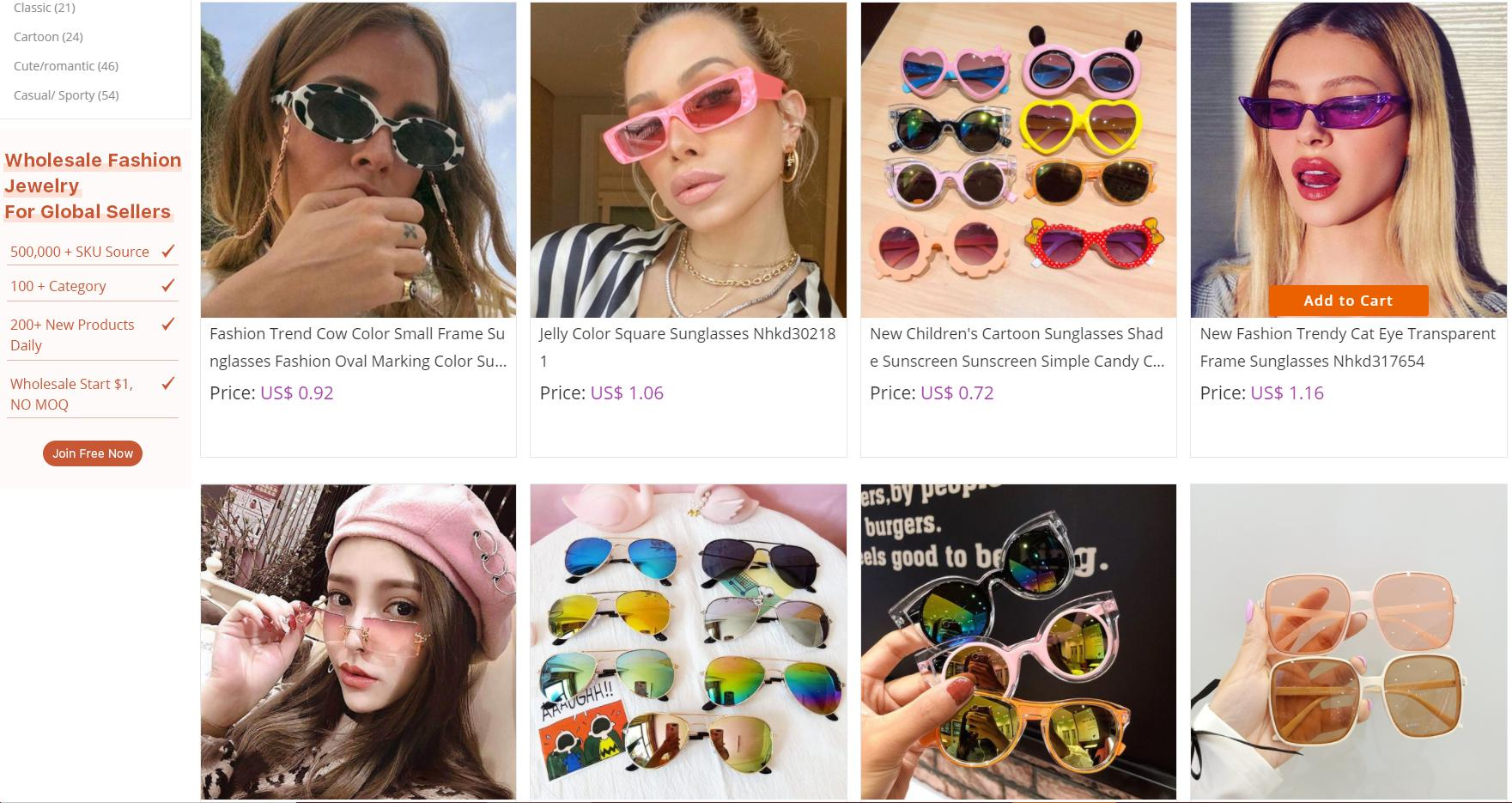nihaojewelry sunglasses