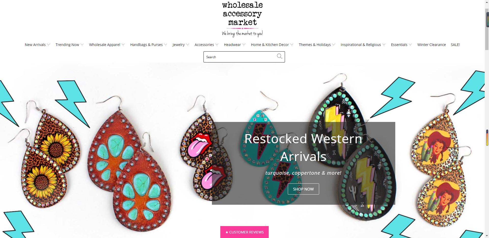 wholesale accessory market home page