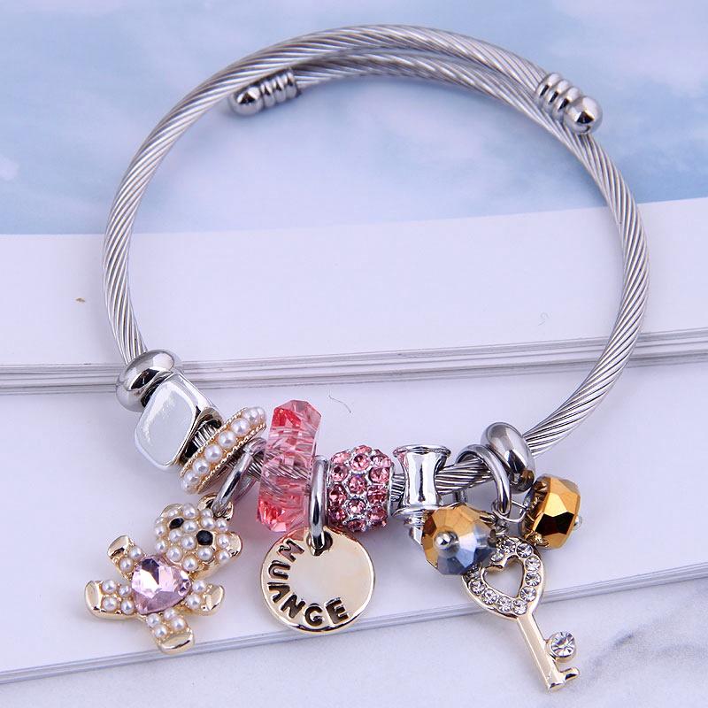 bear dangle charm bracelets nihaojewelry