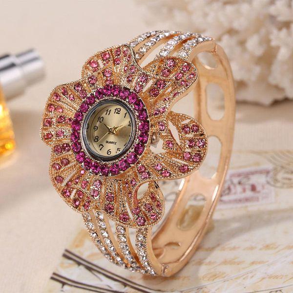 flower diamond watch