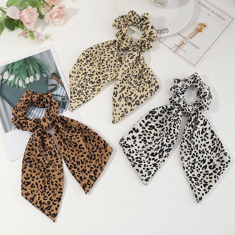 leopard hair scrunchies