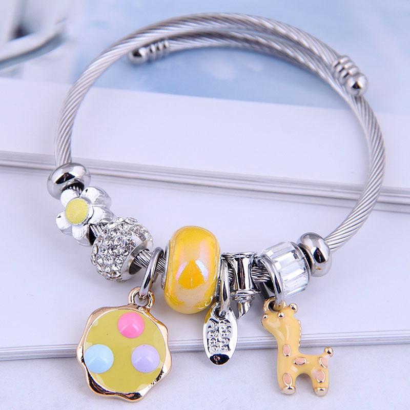 simple deer dangle bracelet nihaojewelry