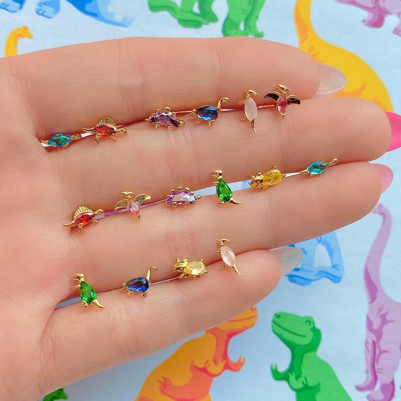 small dinosaur ear studs nihaojewelry