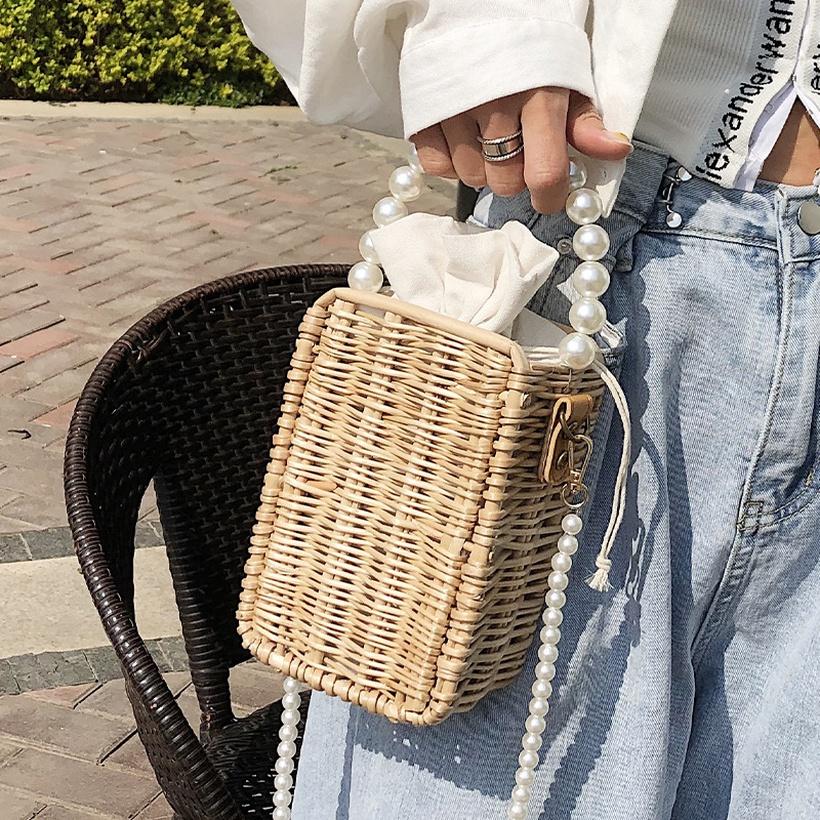 small square straw woven bag nihaojewelry