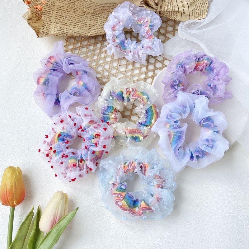 yarn hair scrunchies
