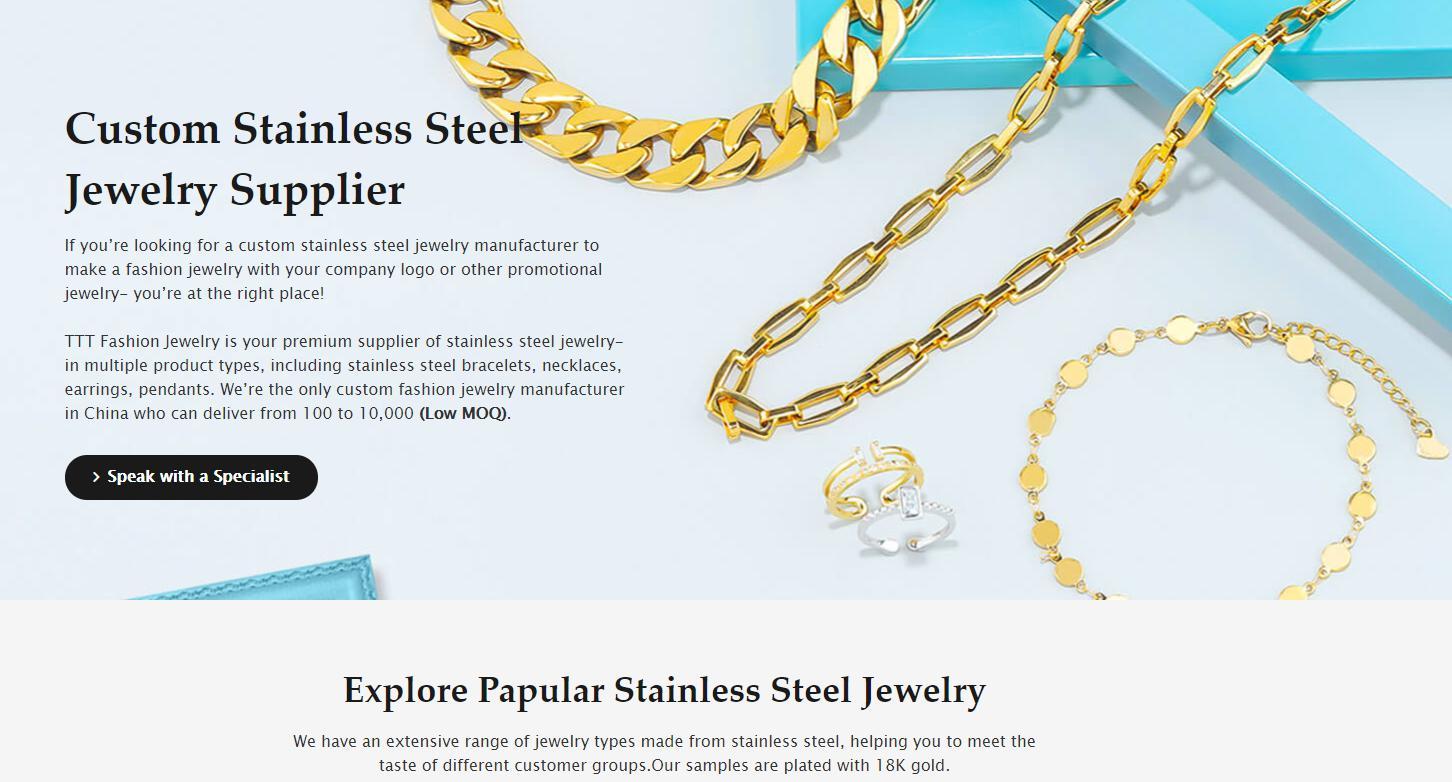 fornecedor de joias de inox customizadas TTT joias da moda