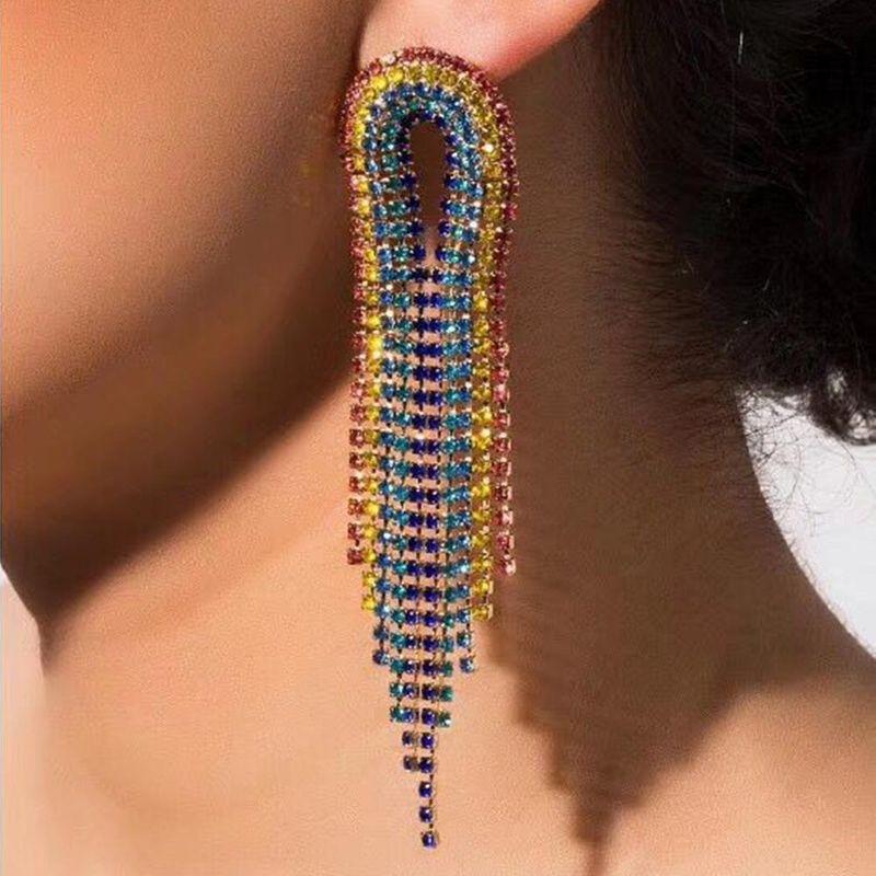 diamante tassel earrings