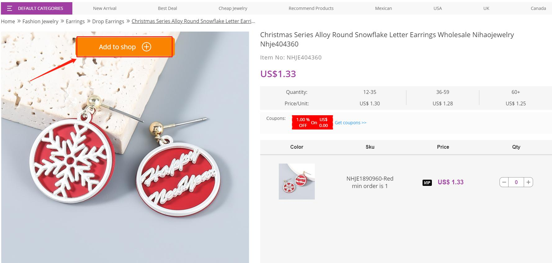 import products from nihaojewelry product page