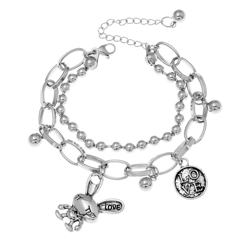 stainless steel charm bracelets