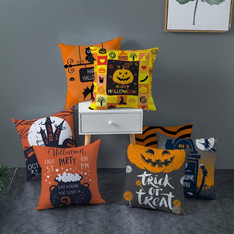 Halloween pumpkin pillowcases NHJW403269
