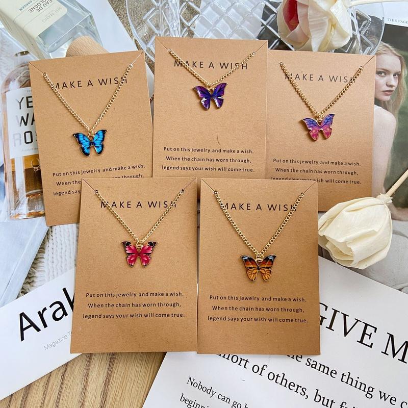butterfly pendant necklace NHPJ363807
