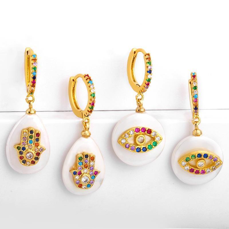 evil eye earrings NHAS155634
