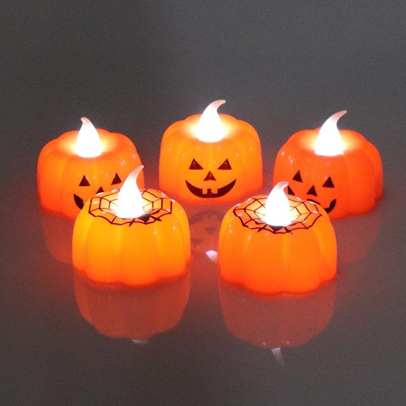pumpkin candle lights for halloween party NHMV409348