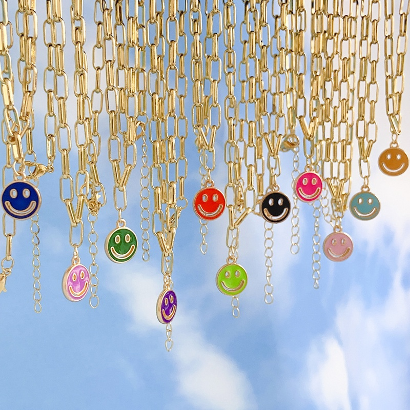 smiley face pendant NHYIA401076