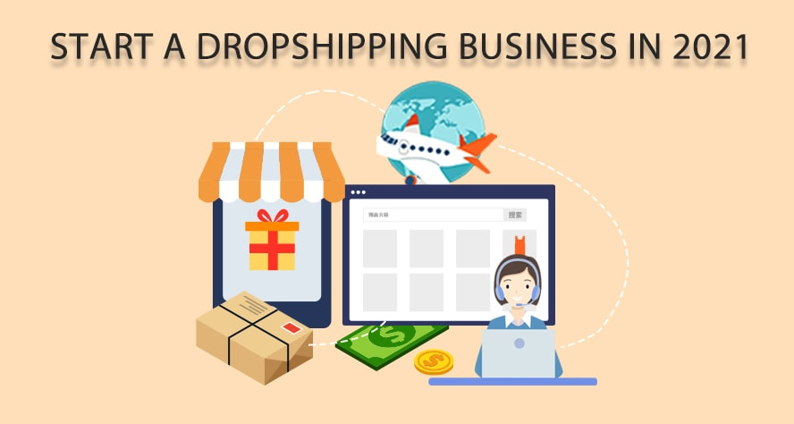 start a droshipping business in 2021