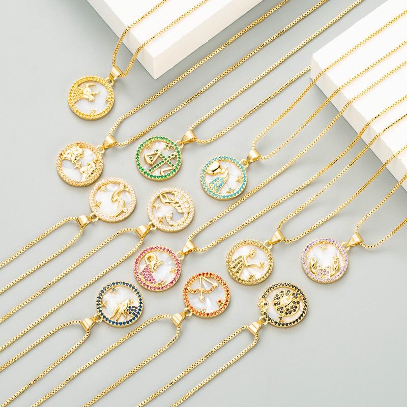 zodiac necklaces NHLN342333