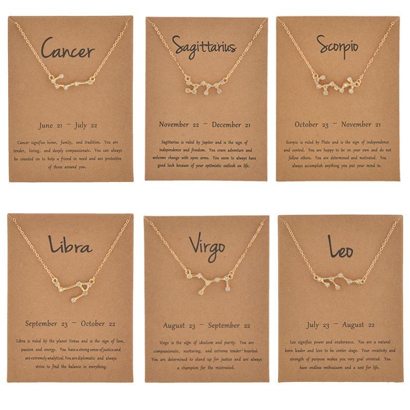 zodiac necklaces NHQIY389721
